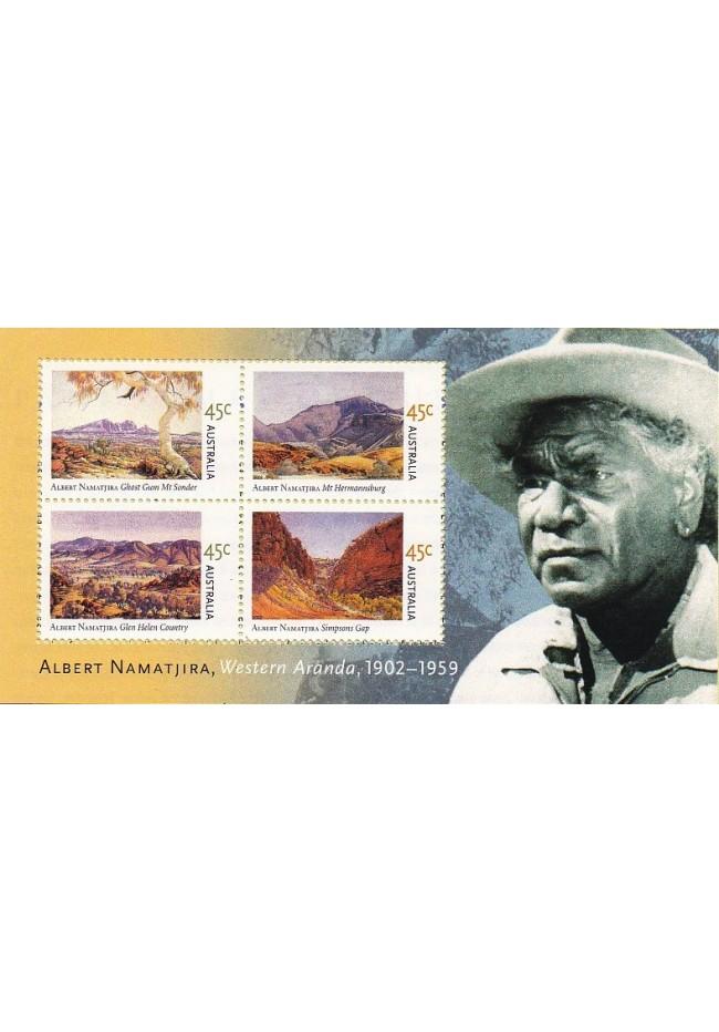 2002 Birth Centenary of Albert Namatjira Mini Sheet