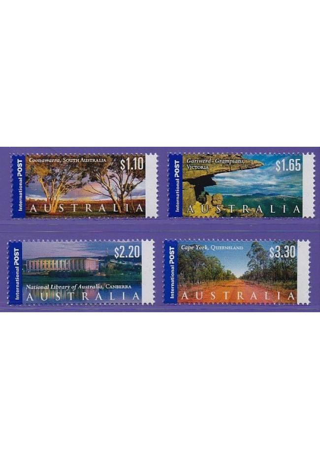 2002 Panoramas of Australia Stamp Set of 4 International Stamps