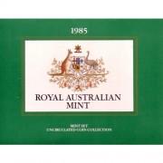 1985 Australian Unc Coin Set Clear Plastic