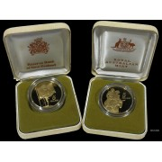 1990 75th Anniversary of Anzac Commemorative Dual Five Dollar Proof Coin Set