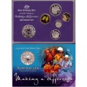 """2003 """"Australia's Volunteers"""" Six Coin Proof Set"""