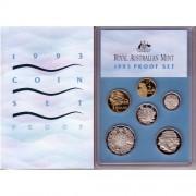 1993 Australian Six Coin Proof Set