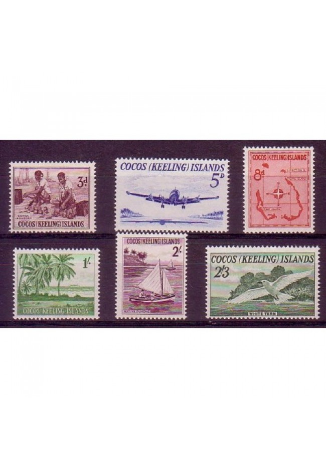 1963 Cocos (Keeling) Island Definitive Stamps