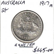 1917M Australian Florin EF/aUNC