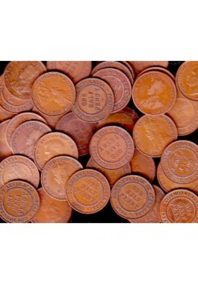 500 grams Australian Commonwealth Halfpennies