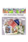 100 Different Australian Used Stamps