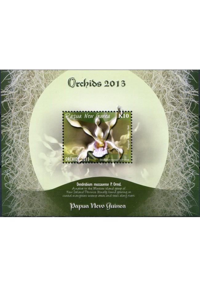 2013 Papua New Guinea Orchids M/S