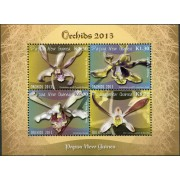 2013 Papua New Guinea Orchid Stamp Sheetlet