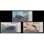 1982 Norfolk Island- Whales, Stamp set of 3