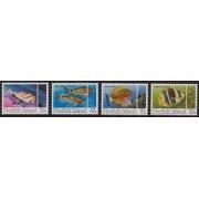1984 Tropical Fish Set of 4 MUH
