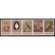 1984 Norfolk Island Boobook Owl Stamp Set of 5 MUH