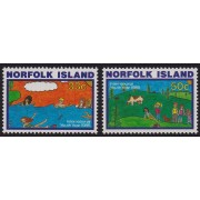 1985 Norfolk Island - Youth Year Set of Stamps