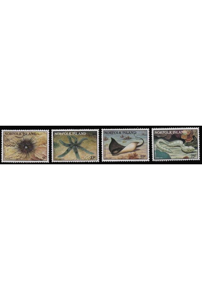 1986 Norfolk Island - Reef Stamp Set