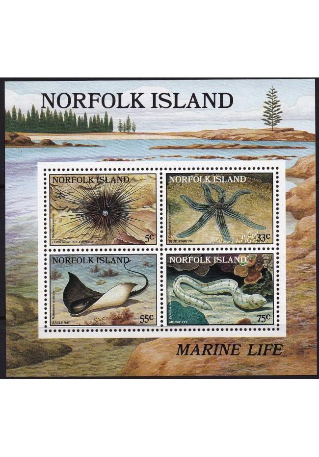 1986 Norfolk Island - Reef Stamp Mini Sheet