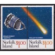 1985 Norfolk Island - Halley's Comet Stamp Set