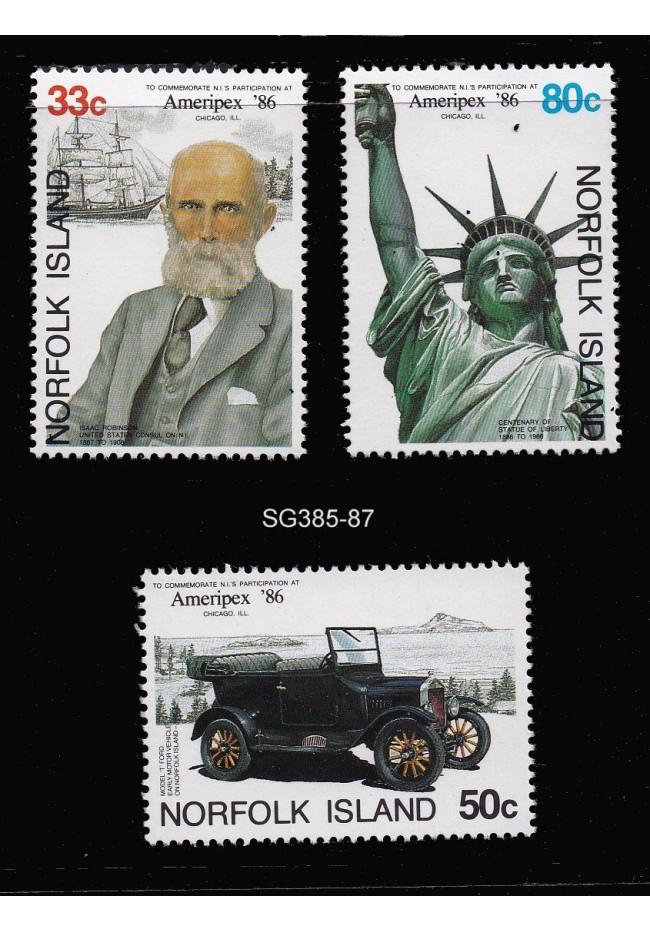 "1986 Norfolk Island ""Ameripex"" International Stamp Expo Stamp Set"
