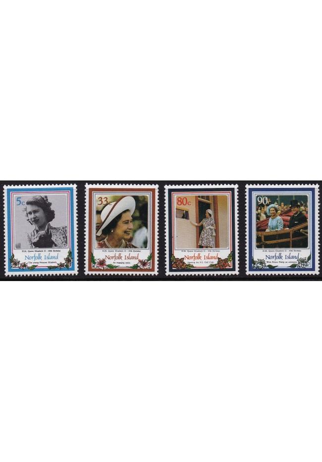 1986 Norfolk Island - Queen's Birthday Stamp Set