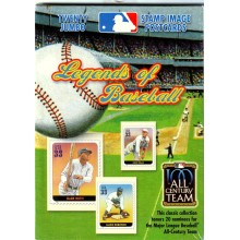 2001 US Legends of Baseball Stamp Image Postcards