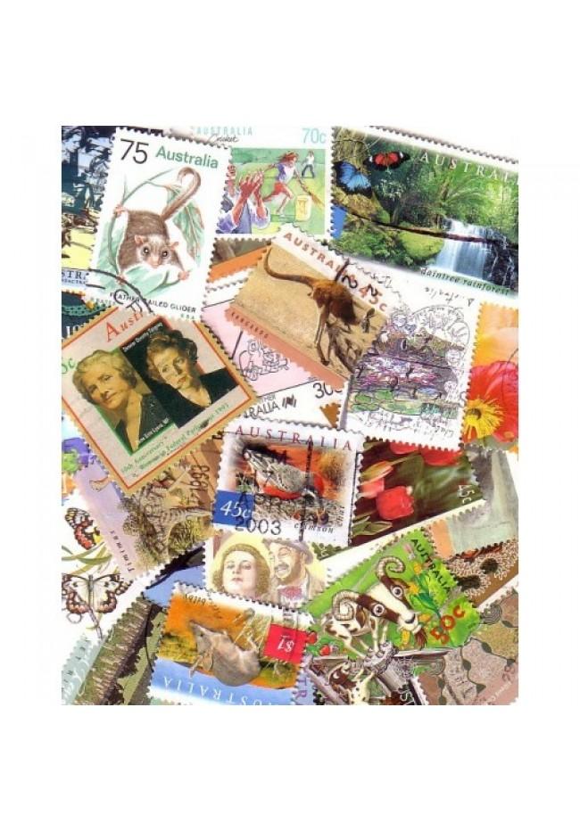 Big Bag of Australian Stamps Off Paper