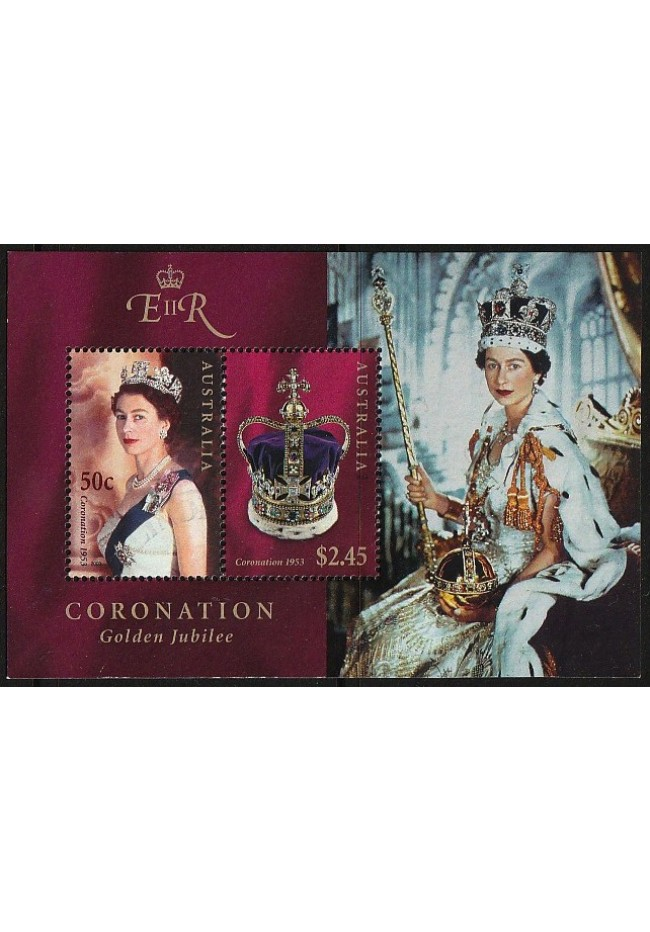 2003 Jubilee of Queen Elizabeth 11's Coronation Mini Sheet - used