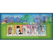 2004 Cats and Dogs Stamp Miniature Sheet Fine Used