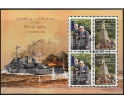 2008 Discovery of HMAS Sydney Stamp Mini Sheet - fine used