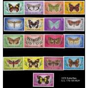 1976 Norfolk Island Butterflies Stamp Set of 17